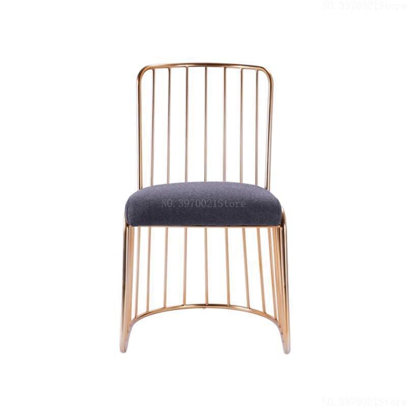 Скандинавский Простой Современный барный стул Золотое кованое железо обеденный