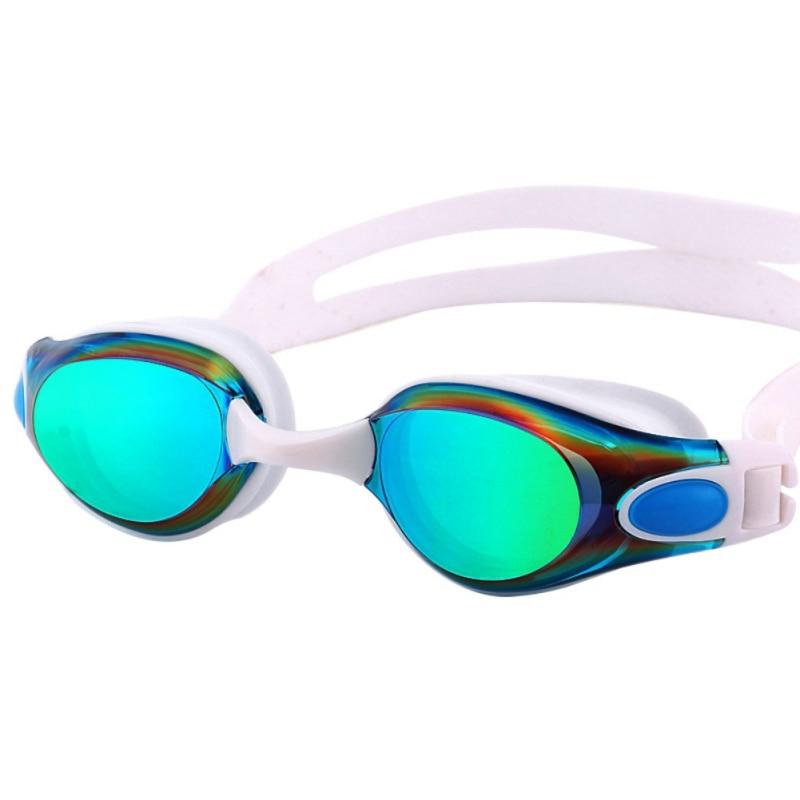 Damas chapado impermeable Anti niebla transparente gafas HD gafas accesorios de natación adulto gafas de natación