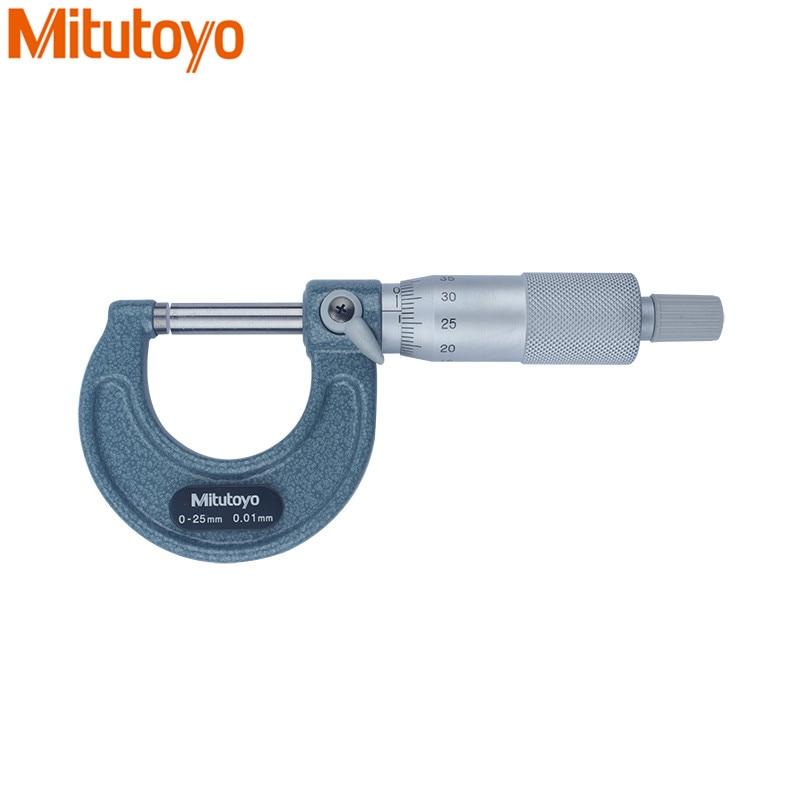 Original Mitutoyo Outside Micrometer 0-25mm/0.01mm Micrometer Screw Gauge 103-137 Caliper Measure Tools Gauge Mitutoyo Tool