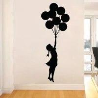 Banksy     autocollant mural en vinyle auto-adhesif  ballon volant  decoration de maison pour fille  Graffiti  DIY bricolage