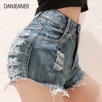danjeaner new summer womens denim shorts hot pants jeans nightclub womens sexy high waist hole