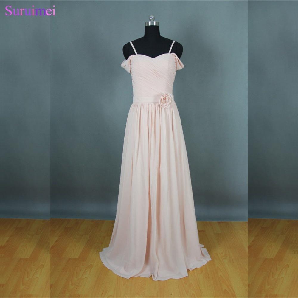 Long Blush Pink Bridesmaid Dresses New Design Off The Shoulder Brides Maid Dresses Free Shipping BD158