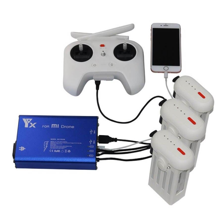 Mi Drone 4 karat Ladegerät RC Quadcopter 4 karat Kamera 3in1 Batterie und Trans mi tter Ladegerät für Xiao mi ersatzteil drohne