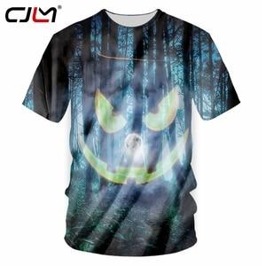 CJLM Man Best Selling Halloween O Neck Tshirt 3D Large Size 5XL Printed Forest Pumpkin Tee Shirt Men's T-shirt Wholesale