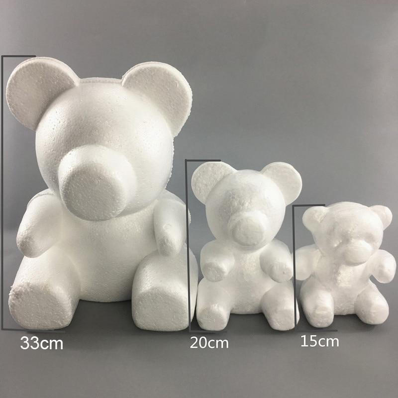 1PC 15 cm/20 cm/35 cm de espuma Rosa molde de oso DIY flor de Rosa artificial oso Oso de plástico rosas perro de la suerte molde modelo