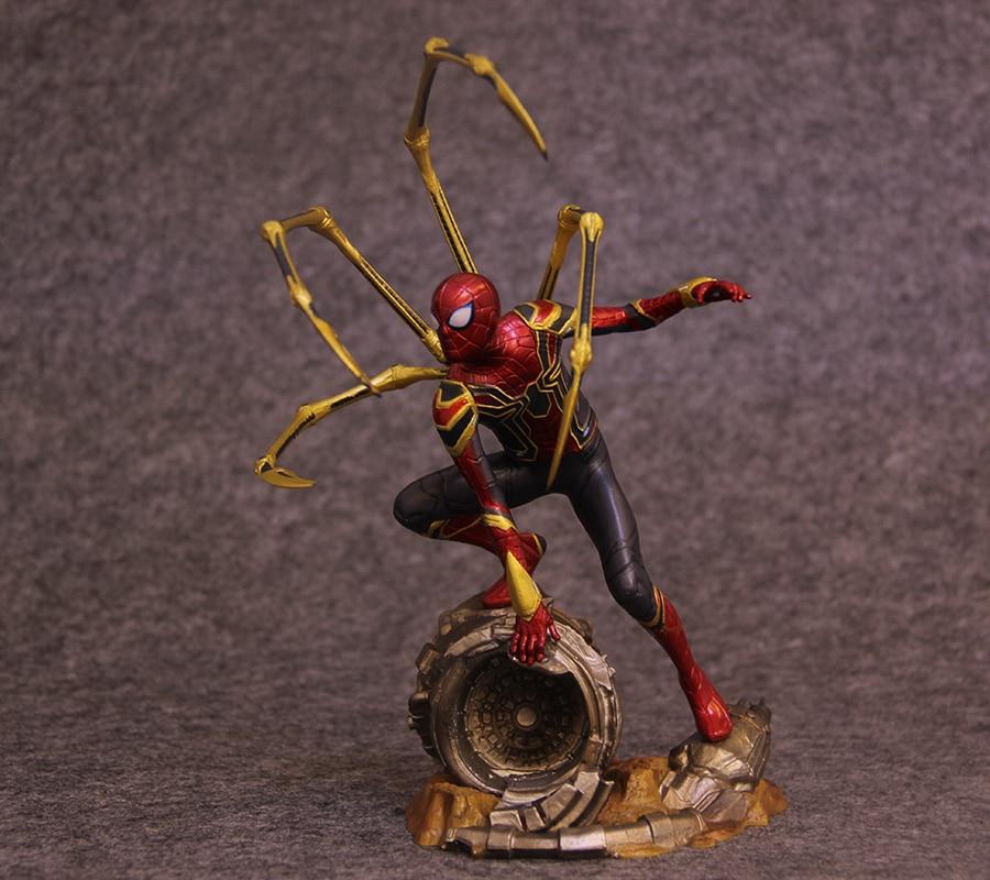 Estatua de superhéroe de Marvel los Vengadores Iron Spider-Man Peter Parker ARTFX + figuras en miniatura de juguete