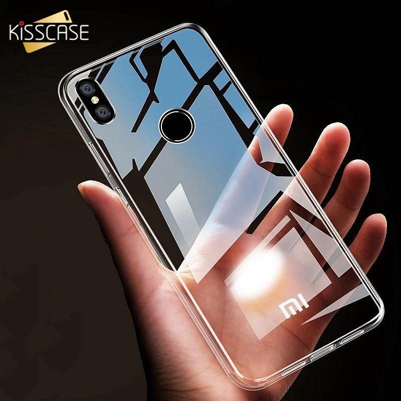 KISSCASE, funda transparente de TPU para Xiaomi pocophone F1 Mi 8 6 5 4 A1 A2 5X, funda de silicona suave para Redmi Note 5 Plus 5a