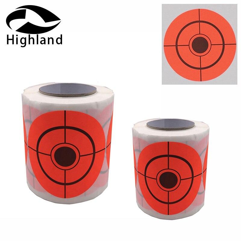 Tiro com arco Caça 2 polegada ou 3 polegada autoadesivo papel orange adesivos Alvo alvo de Caça tiro