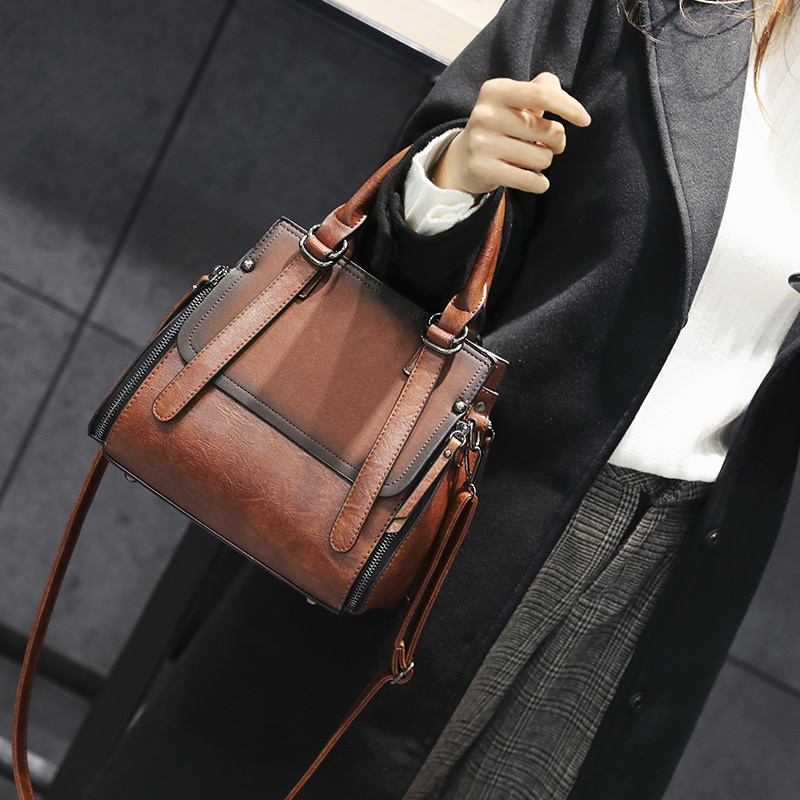 Simples clássico estilo euramerican balde saco de alta qualidade couro do plutônio feminino bolsa de ombro bolsa feminina H-58965