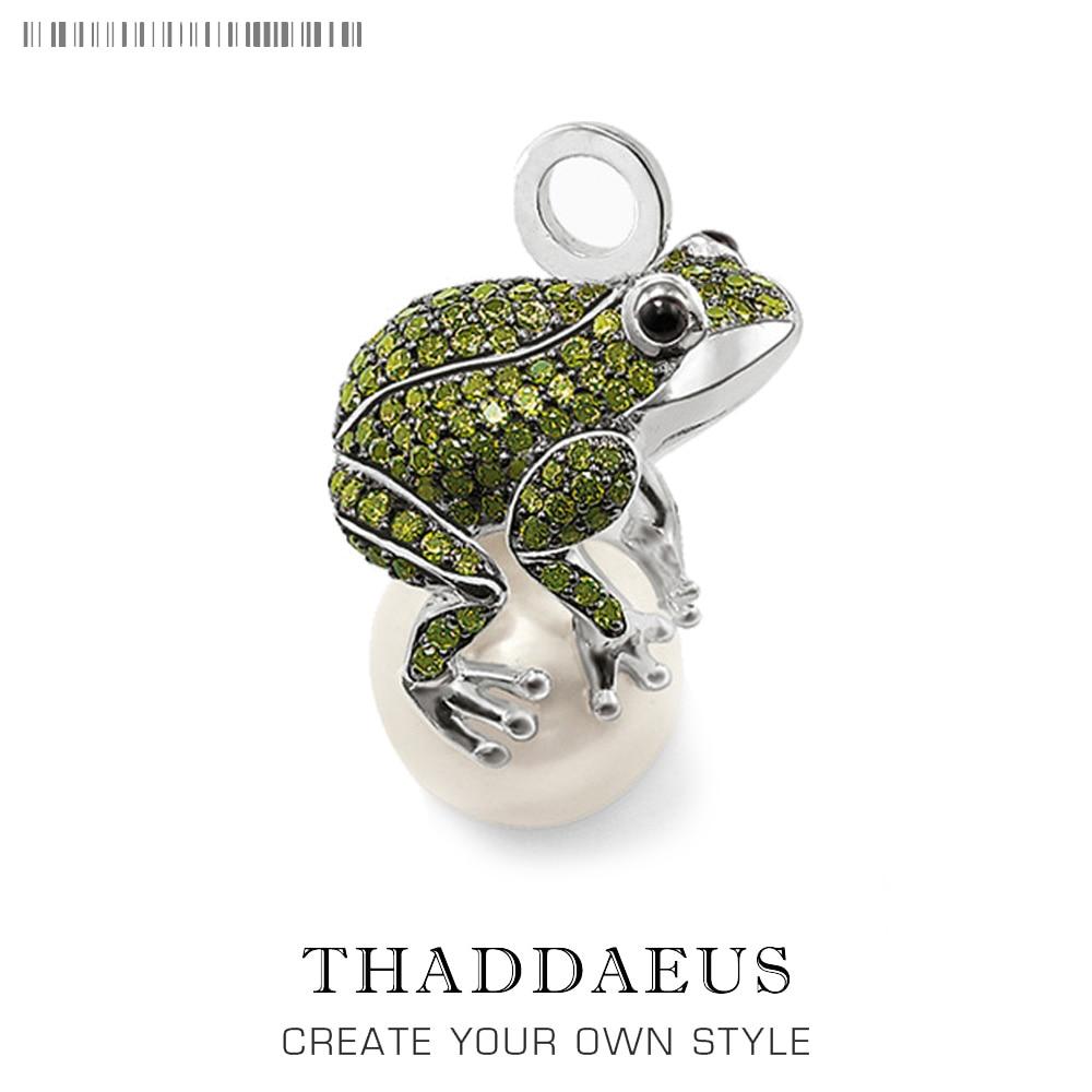 Подвеска с лягушкой и жемчугом, 2019, новые модные ювелирные изделия из стерлингового серебра 925 пробы с Томасом, аксессуары для мужчин и женщи...