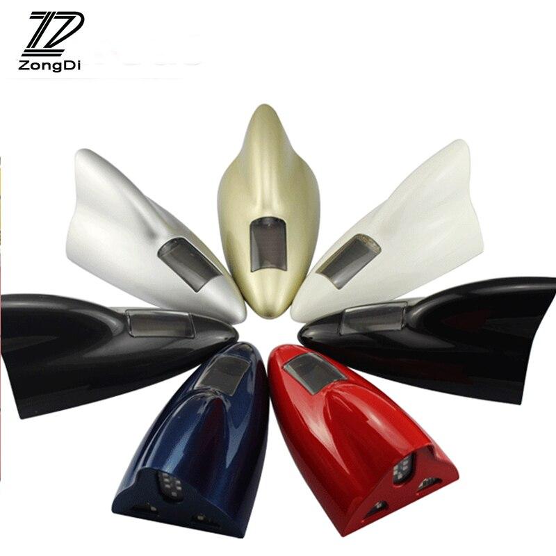 Antenas LED solares para coche ZD, antenas de señal de transmisor FM para BMW e46 e39 e36 Audi a4 b6 a3 a6 c5 protector antipolvo para Renault Lada granta