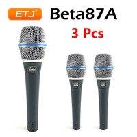 3Pcs Professional Version BETA87A Vocal Karaoke Handheld Dynamic Wired Microphone