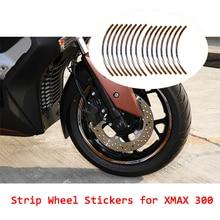 KODASKIN moto roue jante autocollants rayure étanche rond décalcomanies pour Yamaha XMAX x-max 300 xmax300 X max300