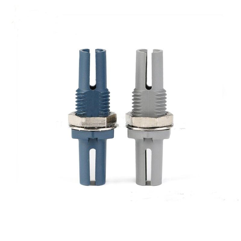 Envío gratis 10 piezas de calidad HFBR-4505Z/HFBR-4515Z conector de fibra óptica de plástico azul y gris opción