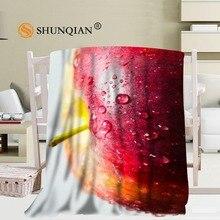 Personnalisé coloré gouttes couverture doux bricolage votre image décoration chambre taille 56x80 pouces, 50X60Inch,40X50Inch A7.10