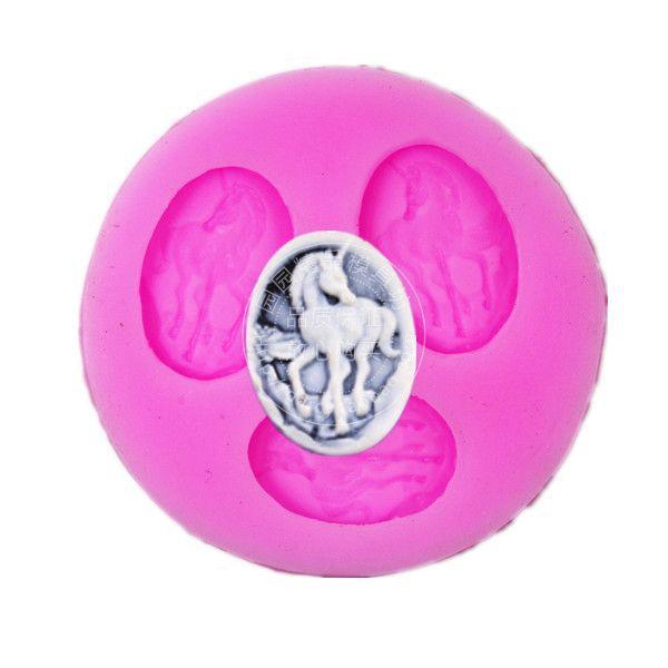 Molde de Fondant de silicona de caballo pequeño F109 molde de pasta de goma para decorar pasteles
