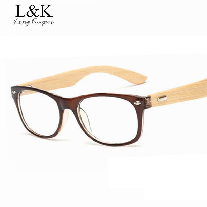 Patillas largas de bambú, montura de gafas para hombres y mujeres, monturas de gafas de madera, monturas originales de madera óptico miope, gafas