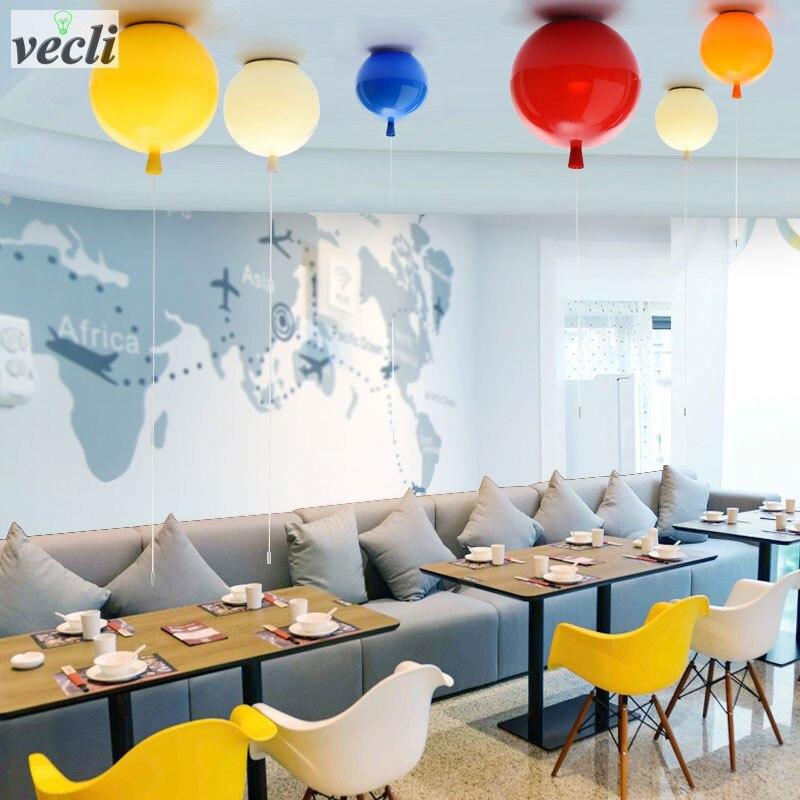 D250mm воздушные шары, потолочные лампы, детская комната, милый шар, абажур, гостиной столовой, спальни, удобный светильник, декоративное освещение
