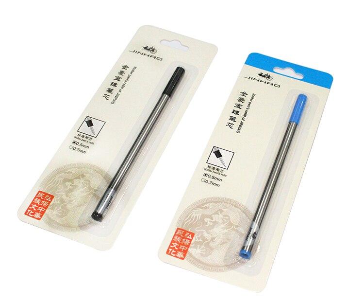 5 шт./лот, металлические стержни 0,5 мм для шариковой ручки, шариковая ручка для бизнеса, шариковая ручка, стержни длиной 11 см, Канцелярские Тов...