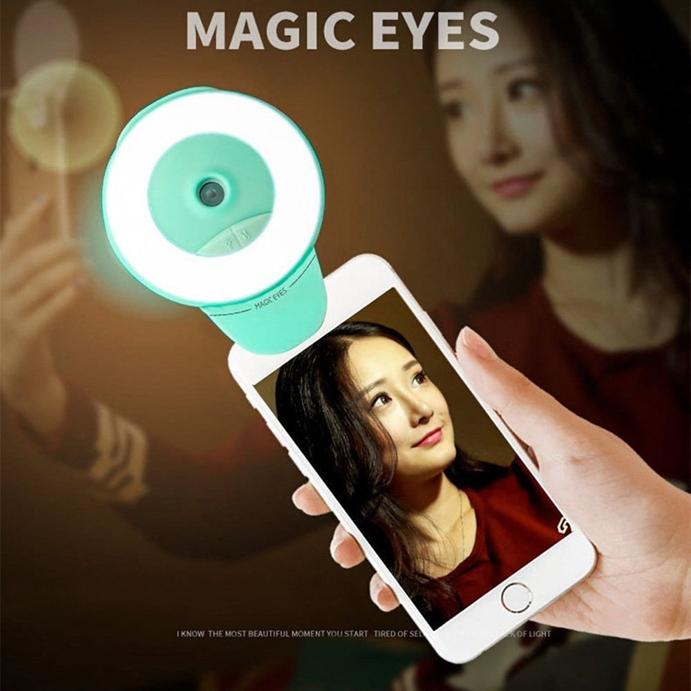 Facial Beauty Mist Sprayer 2-in-1 Selfie Ring Light Self-timer Fill Mini Portable Water Replenishing Spray Humidifier