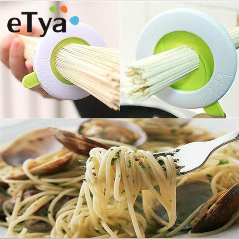 Etya compacto espaguete medidas gadgets cozinha macarronete medição limitador ferramentas guia de porção ajustável para um a quatro porções