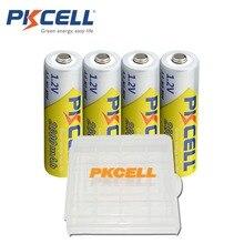 4 pilas AA PKCELL NI-MH 2600Mah 1,2 V AA baterías recargables 2A Bateria Baterias con caja de la caja de almacenamiento de la batería AA