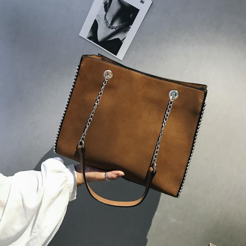 Bolsos De Mujer 2019 nuevo estilo de moda Bolsos De Mujer cadenas bolsos de un solo hombro bolsos de mensajero marrón