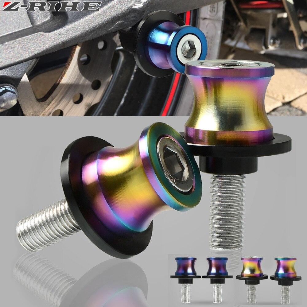 Color rico 6mm 8mm 10mm de la motocicleta está tornillos basculante carrete deslizante encaja para Yamaha YZF R1 R6 r6S YZFR1 YZFR6 YZFR6S YZF-R6S