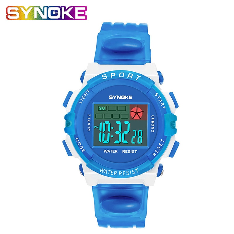 ohsen brand mens boys digital sports watches waterproof rubber band wristwatch led colorful backlight red army kids watch gift SYNOKE Waterproof Children Watch Boys Girls LED Digital Sports Watches Kids Relogio Silicone Digital Wristwatch smart watch kids