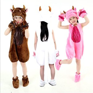 Bazzery 11 Kinds Animals Cosplay Clothes for Children Unisex Xmas Halloween Party Cosplay Costume Cotton Stage Show Drama Wear
