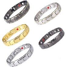 Mode magnétique hématite cuivre Bracelet hommes Bracelets de santé avec crochet boucle fermoir thérapie Bracelets homme soins de santé bijoux