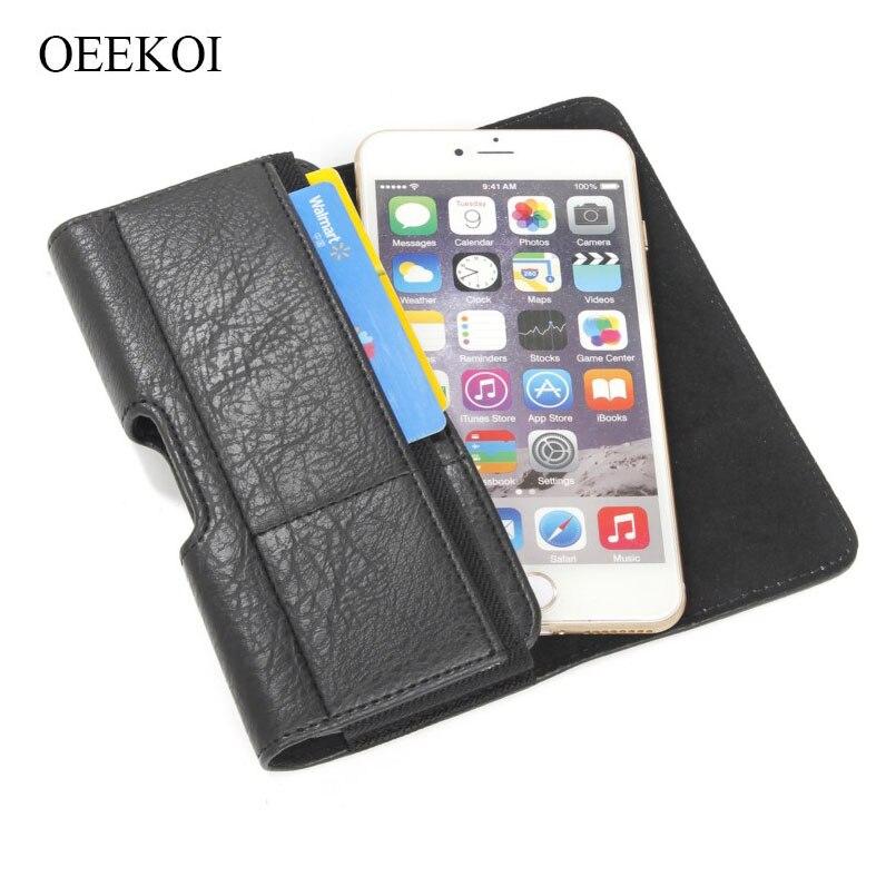 OEEKOI Stone Pattern Belt Clip Pouch Holster Case for Freetel Rei 2 Dual/Kiwami 2/Samurai Raijin