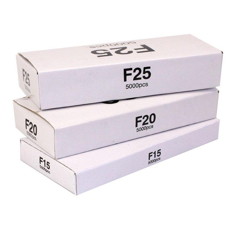 Grapas F15/F20/F25 solo para pistola de clavos eléctrica, grapadora eléctrica, cada estilo incluye 5000 Uds