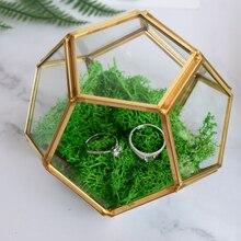 Vase de Terrarium en verre géométrique   Irrégulier Vase Succulent de planteur conteneur de bricolage, oreiller porte-bijoux pour décorations de mariage