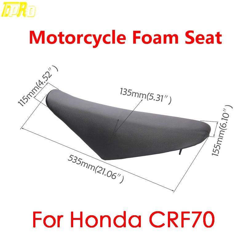 Cubierta de espuma para asiento de motocicleta CRF70 Dirt Pit Bike, asientos de motocicleta, cojín 125cc 140cc 150cc