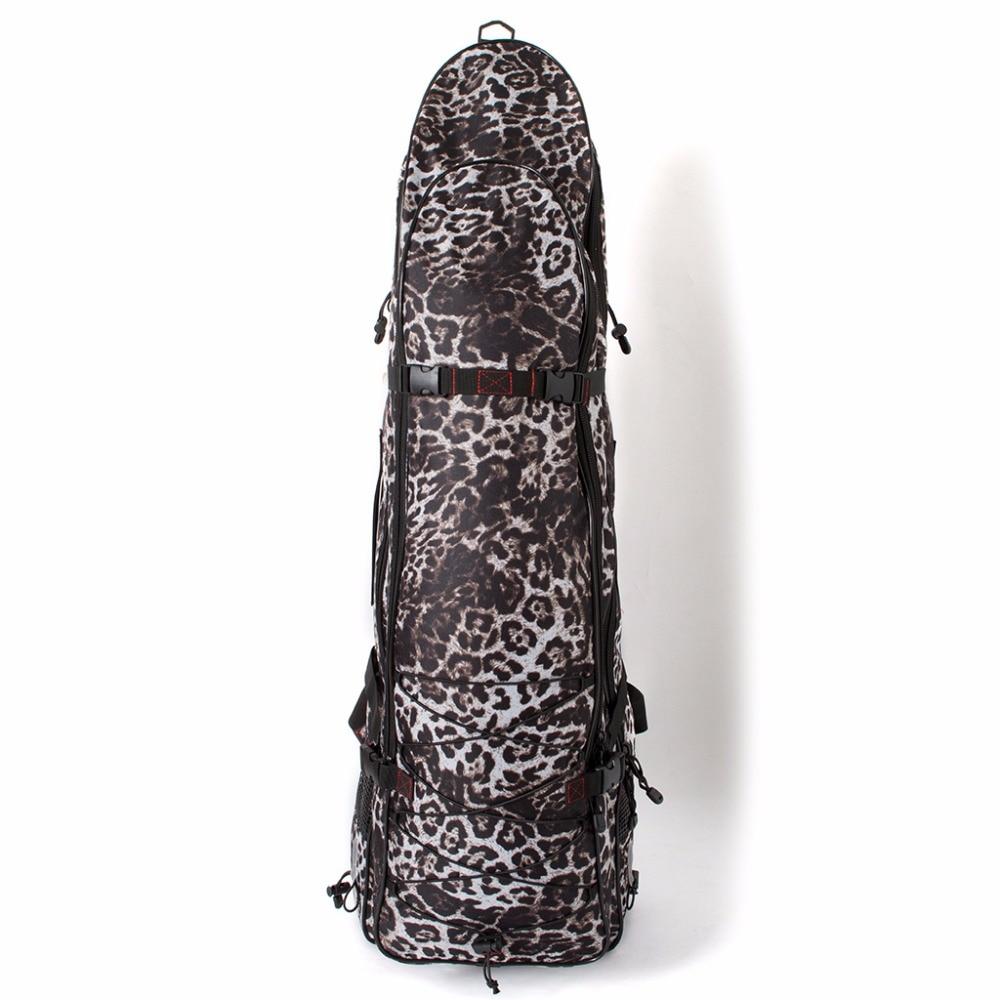 camo long spearfishing bag free diving fins mask snorkel bag fins