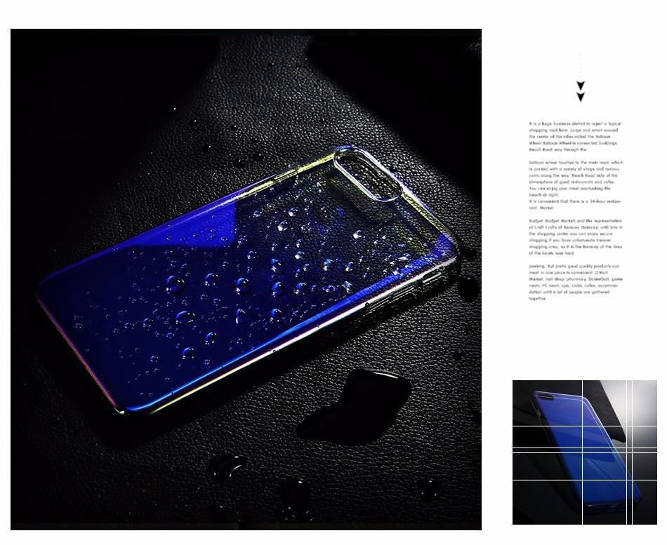 Floveme niebieski ray gradientu przypadki telefonów dla iphone 5 5s se 6 7 6 s plus case do samsung s8 s6 s7 pokrywa dla xiaomi redmi 4 mi5 krawędzi 6