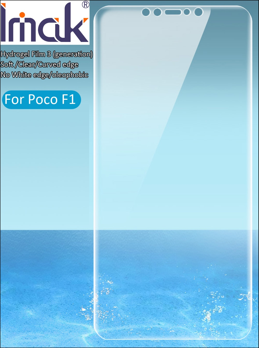 imak Hydrogel Film 3 III For Xiaomi Pocophone F1 Poco F1 Screen Protective Transparent oleophobic