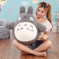 30 70cm famous cartoon movie character lovely plush totoro toy soft stuffed pillow cushion birthday gift toys for children kids