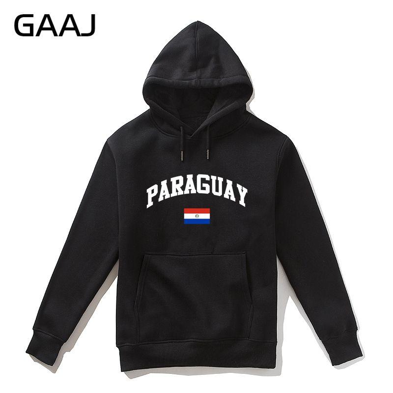 GAAJ Paraguai Bandeira Homens Hoodie Das Mulheres Dos Homens Outerwear Ocasional Fleece Felpe Homme Alta Qualidade Coats Jacket # AXV23 Skates