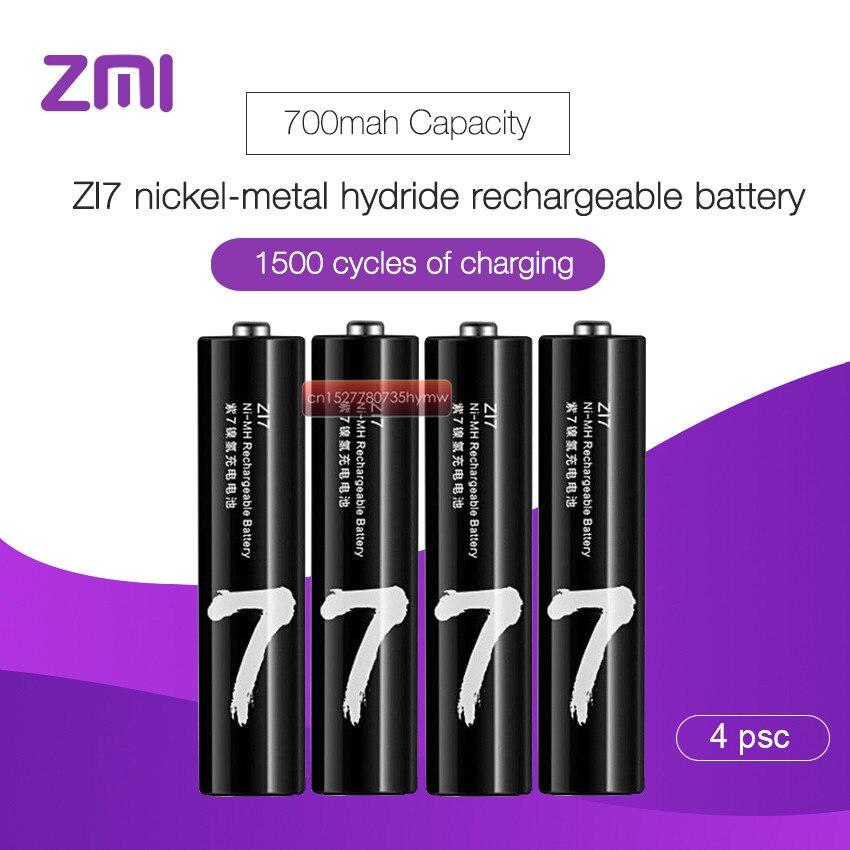 Распродажа Xiaomi ZMI ZI7 AAA 700mAh 1,2 V перезаряжаемый Ni-MH аккумулятор Xiaomi ZIM блок питания mihome D5