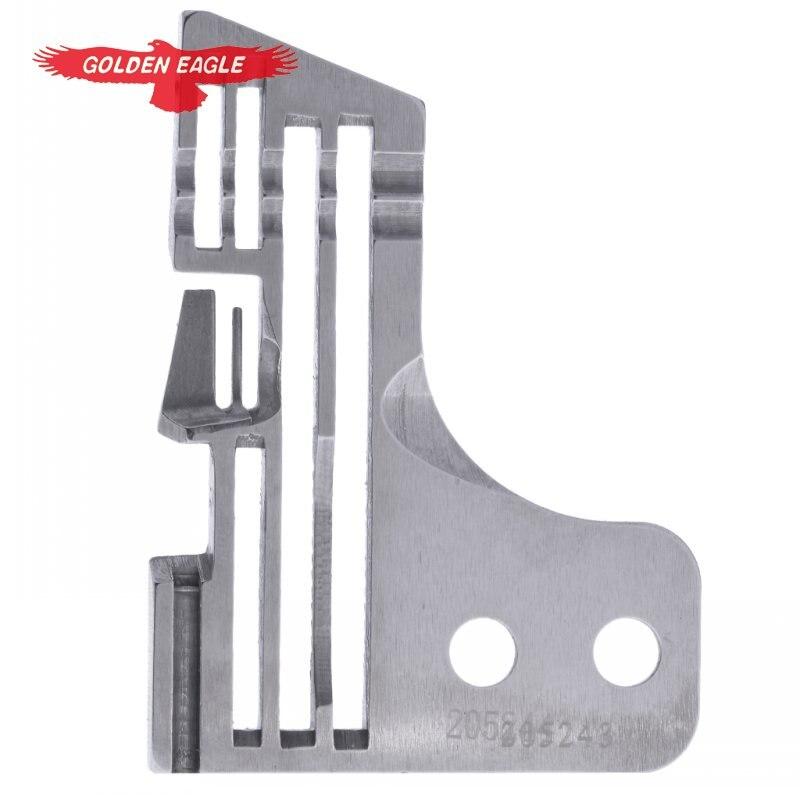 Accesorios para máquinas de coser piezas de repuesto Placa de aguja de coser 205243 Placa de aguja para máquinas de coser pegaso