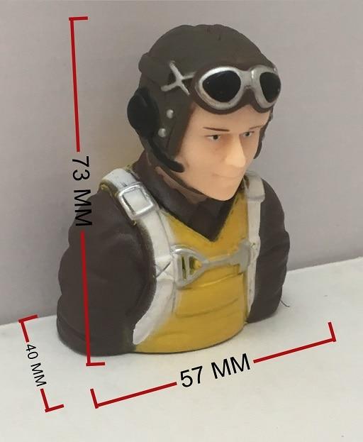 RC piloto figura Freewing P51 RC pájaro