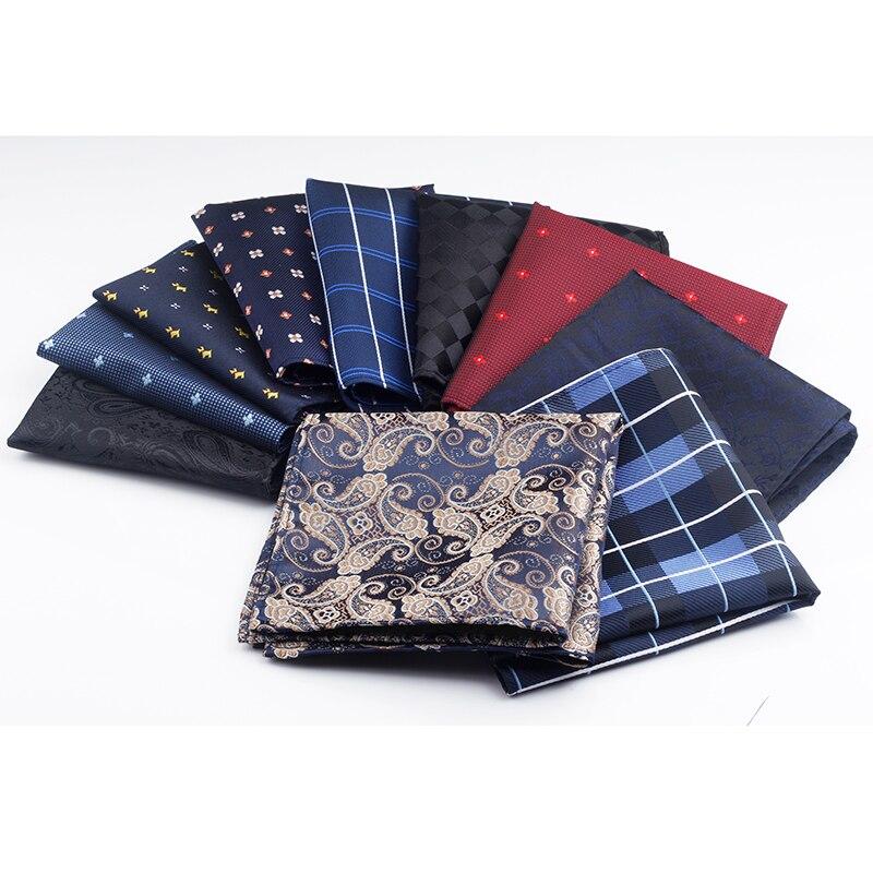 Nuevo 10 colores tejido para pañuelos Plaid viyela pañuelo a rayas casuales de negocios de los hombres Plaza pañuelo de bolsillo boda pañuelos