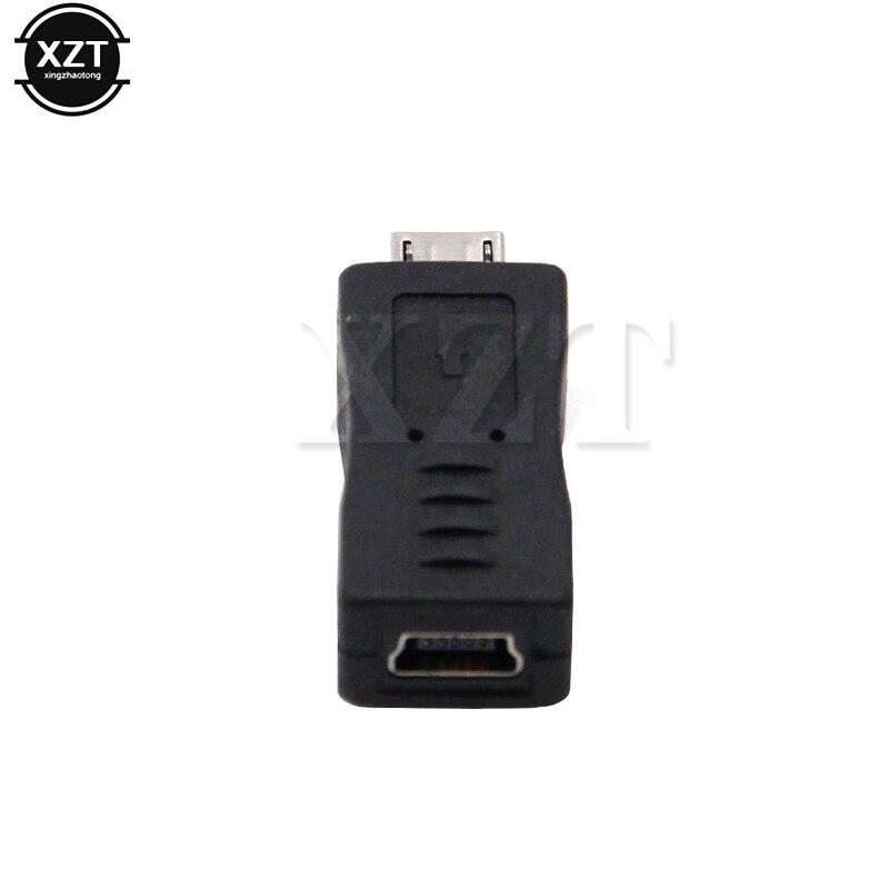 1 unidad nuevo Universal Micro USB macho a Mini USB hembra tipo B cargador Adaptador convertidor