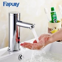 fapully basin faucet automatic sensor faucet chrome polished hand touch tap hot cold bathroom bathroom sensor faucet mixer 111
