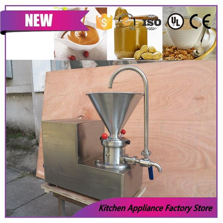 Máquina trituradora de molino, máquina trituradora de maní coloidal profesional, tipo mesa, triturador de maní, molino para mantequilla, trituradora coloide