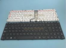 Clavier espagnol pour ordinateur portable LENOVO Ideapad 100, cadre noir, 100-15IBD, 100-15IB, B50-50