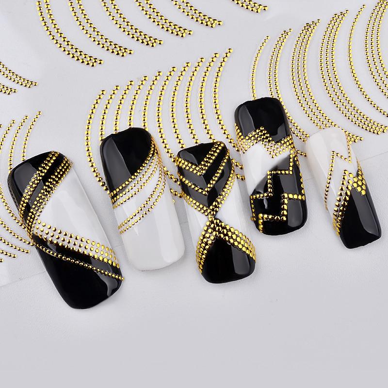 Самоклеящиеся 3D Чередование Лента советы Винтаж золото металл Фольга наклейка DIY