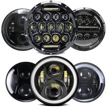 7 Inch H4 Motorcycle LED Headlight Turn Signal Halo DRL for Yamaha Suzuki Kawasaki For Wrangler Hummer offraod 4X4 Front Light